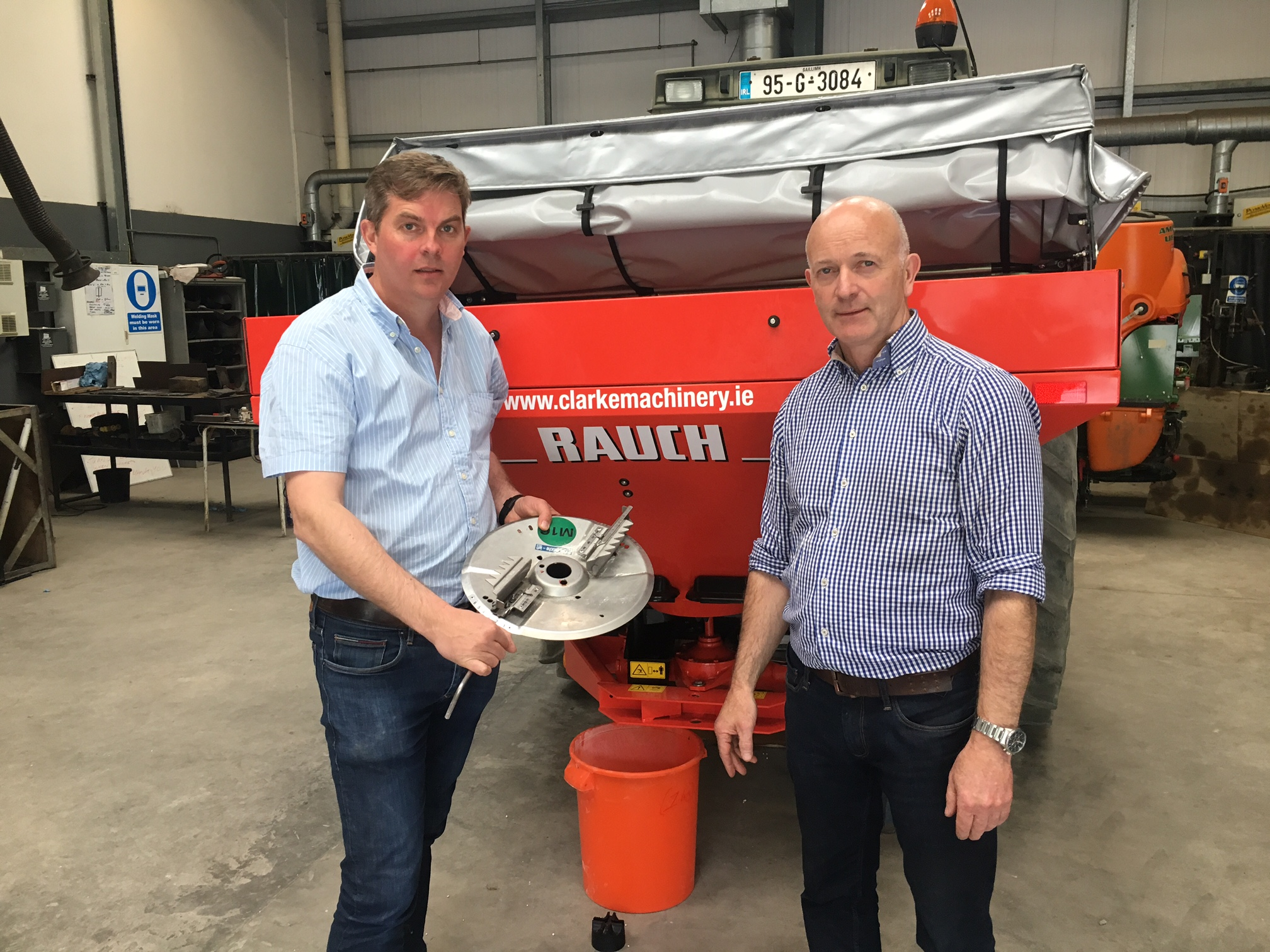 Francis Quigley, Machinery Specialist, Kildalton College & John Delaney, Machinery lecturer,  Ballyhaise College